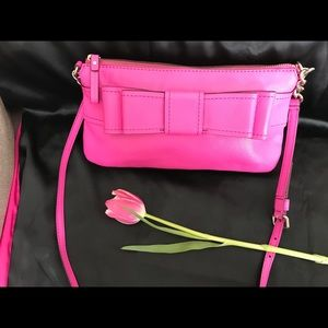 Kate Spade leather Clutch Hot Pink